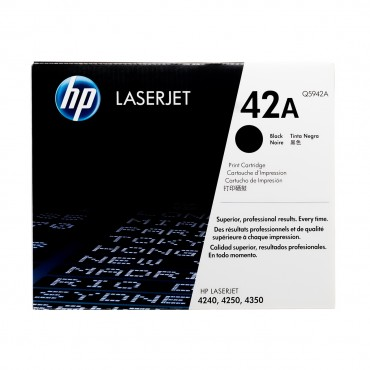 HP 42A Black Original LaserJet Toner Cartridge