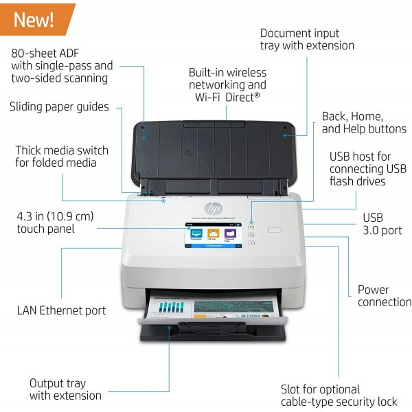HP ScanJet Enterprise Flow N7000 snw1 Scanner