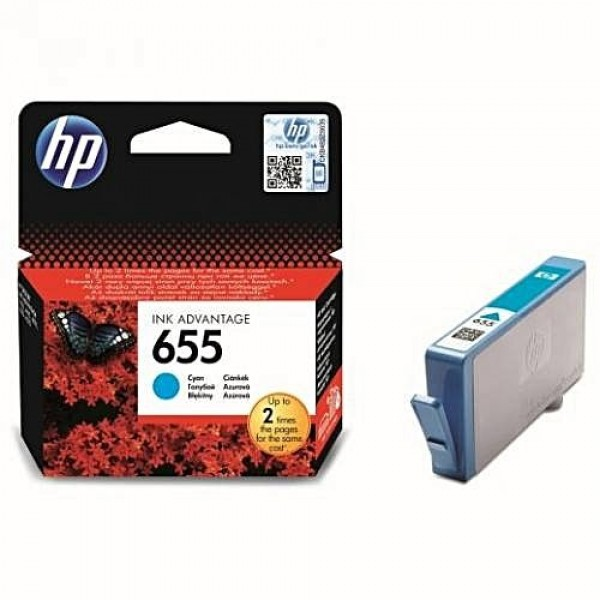 HP 655 Cyan Original Ink Advantage Cartridge