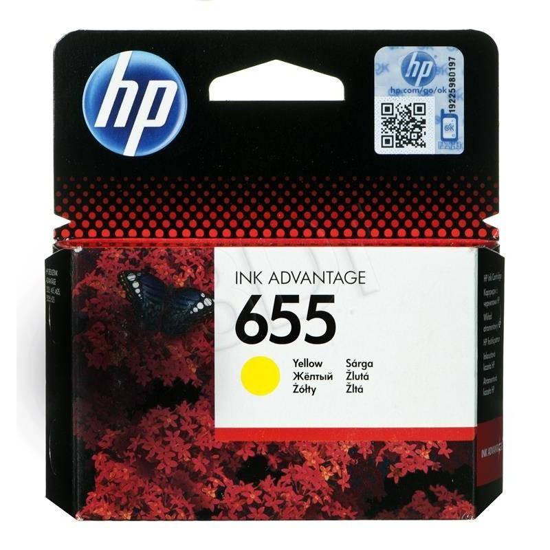 HP 655 Yellow Original Ink Advantage Cartridge