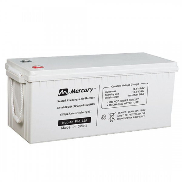 Mercury Gel Deep Cycle Battery 12V 200AH