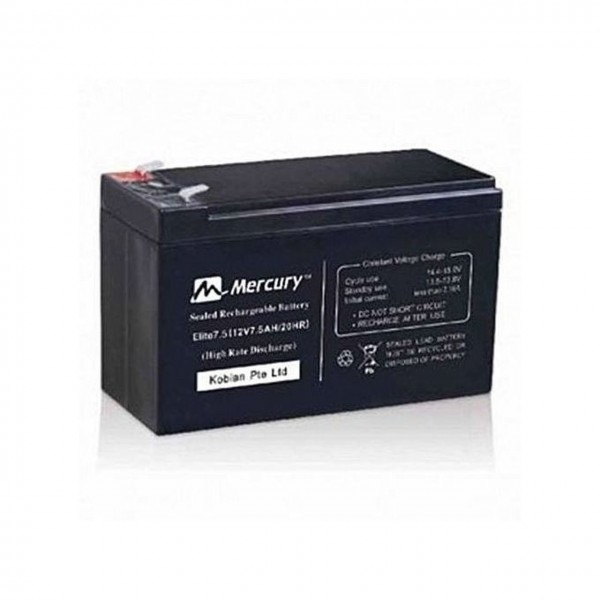 Mercury UPS Replacement Battery 7.5AH 12V