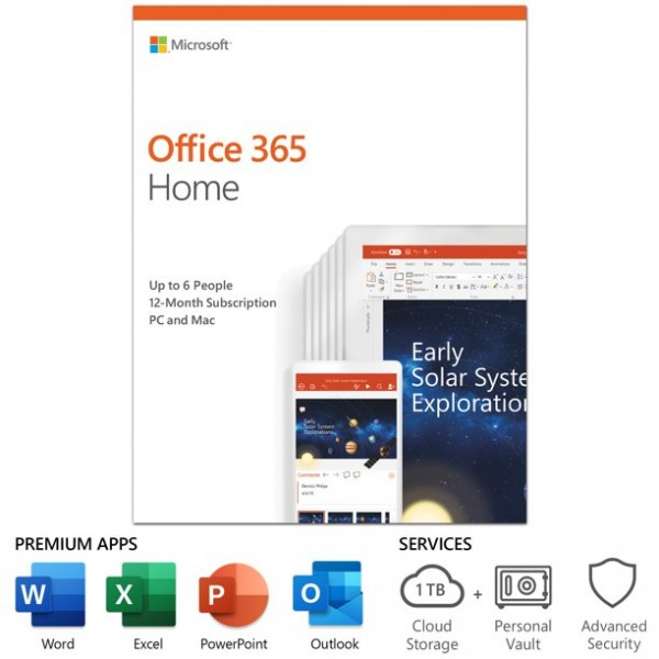 Microsoft Office 365 Home (6Pc/Mac+1tablet)