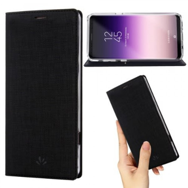 Leather Flip Case For Samsung S9 Plus