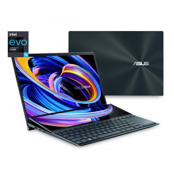 "Asus ZenBook Duo (UX482EA-HY038T), Intel Core i7, 1TB HDD, 16GB RAM 14"" Touchscreen, Windows 10,"