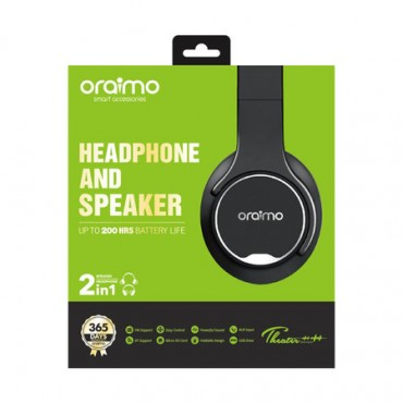 Oraimo 2 in 1 Smart Wireless Bass Bluetooth Headphone