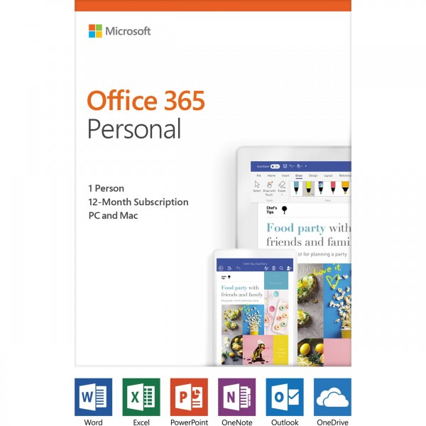 Microsoft Office 365 Personal (1Pc/Mac+1tablet)
