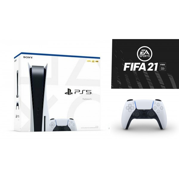 Sony Play Station 5 with Extra Controller and FIFA 21