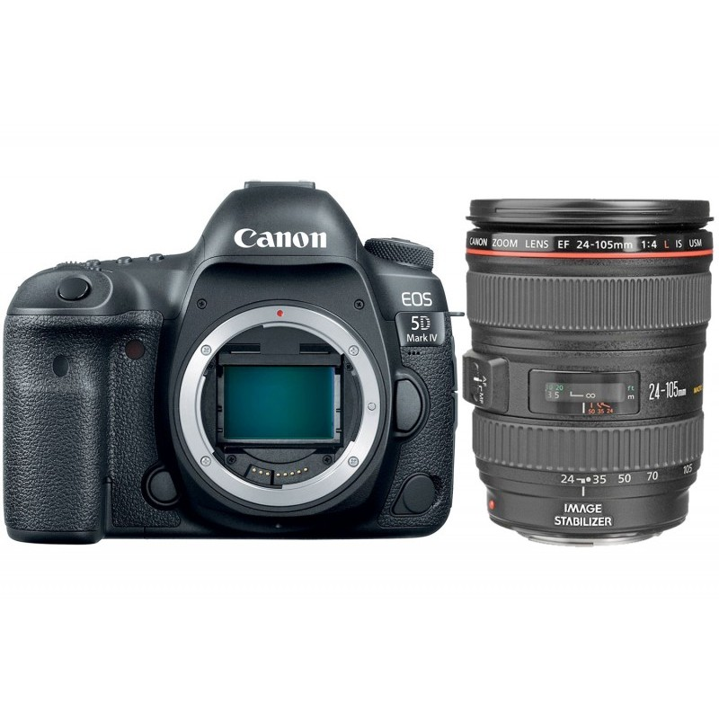 Canon EOS 5D Mark IV (With EF 24-105 mm IS II USM) DSLR Camera