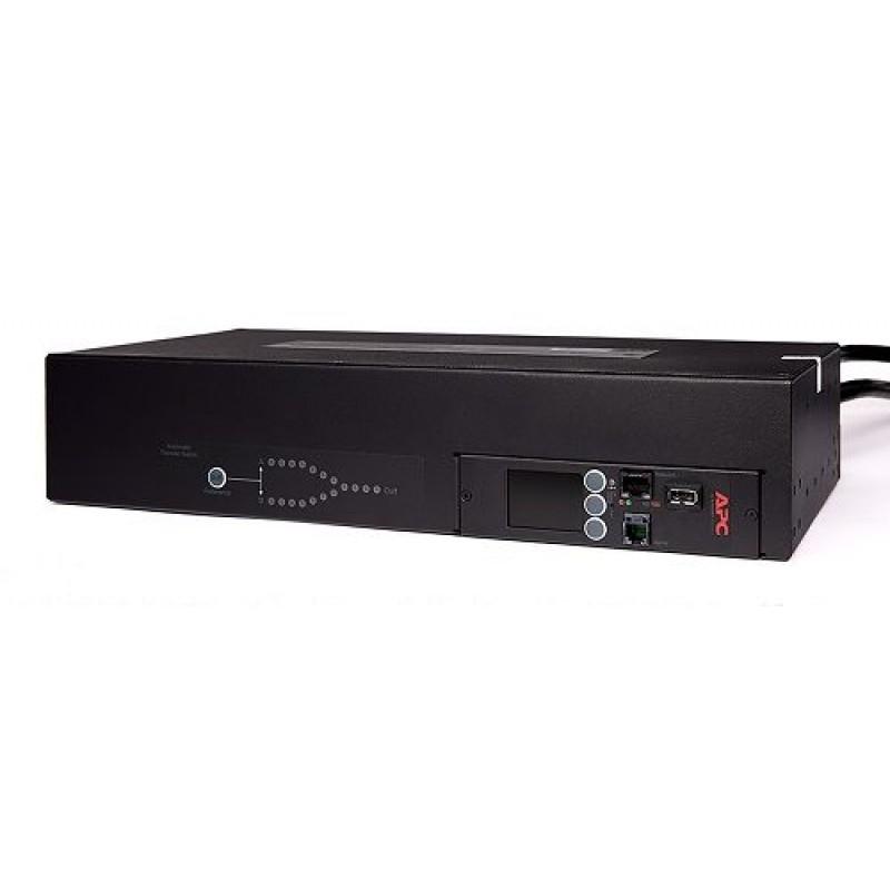 APC Rack ATS, 230V, 32A, IEC 309 in, (16) C13 (2) C19 out