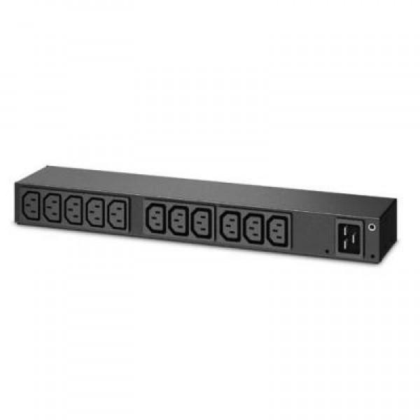 APC Rack PDU,Basic, 1U, 16A,208&230V, (10)C13 & (2)C19