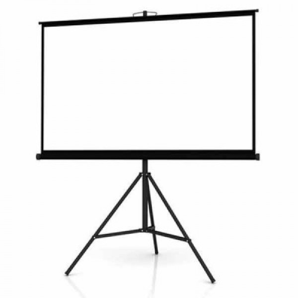 96 x 96 Portable Tripod Projection Screen
